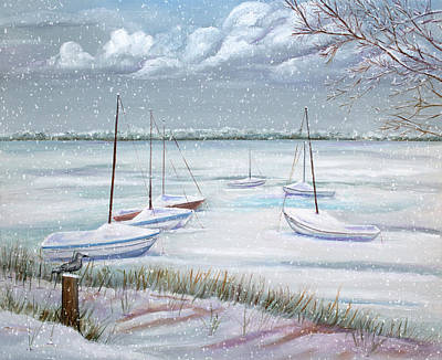 Winter Blue Art Print by Dorothy Riley