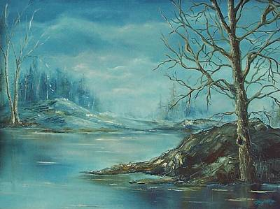 Winter Blue Art Print by Mary Wolf