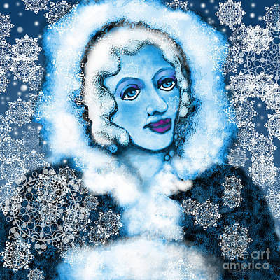 Digital Art - Winter Blues by Carol Jacobs