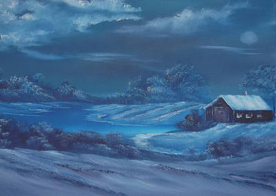 Cynthia-adams-uk Painting - Winter Blues For Sale by Cynthia Adams