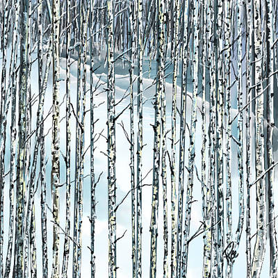 Digital Art - Winter Blues by Maria Schaefers