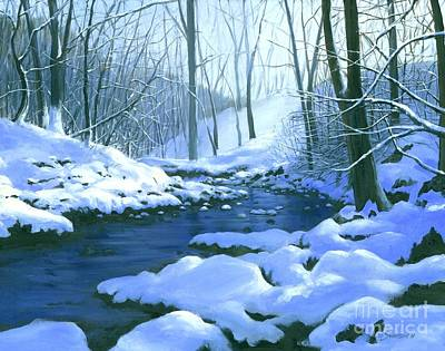 Art Print featuring the painting Winter Blues - Sold by Michael Swanson