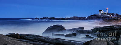 Winter Bomb Hits Nubble Art Print by Scott Thorp