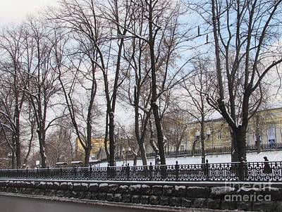 Moscow Skyline Photograph - Winter Boulevard by Anna Yurasovsky