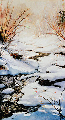 Snow Scene Painting - Winter Break by Hanne Lore Koehler