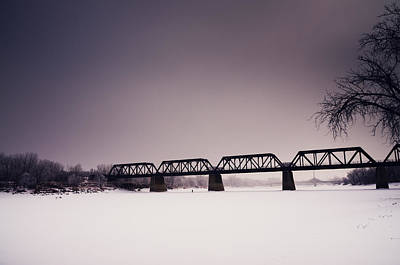 Winnipeg Photograph - Winter Bridge by Bryan Scott