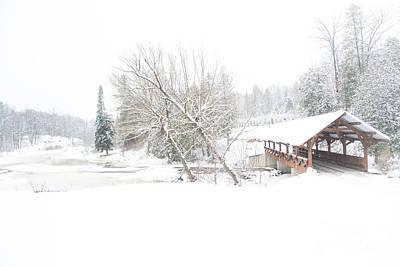 Photograph - Winter Bridge by Cheryl Baxter