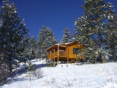 Winter Cabin Art Print
