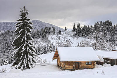 Bulgaria Photograph - Winter Cabin by Evgeni Dinev
