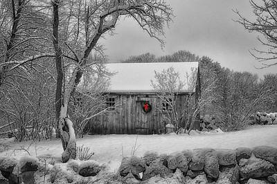 Cabin Window Digital Art - Winter Cabin by Tricia Marchlik