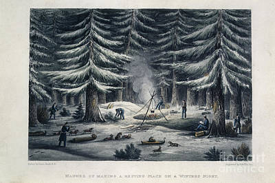 Winter Camp Art Print by British Library