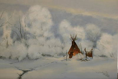 Painting - Winter Camp by Richard Hinger