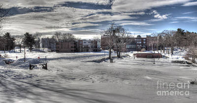 Photograph - Winter Campus by David Bishop