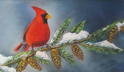 Winter Cardinal 2 Art Print by Melinda Saminski