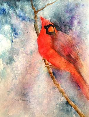 Painting - Winter Cardinal by Cynthia Roudebush