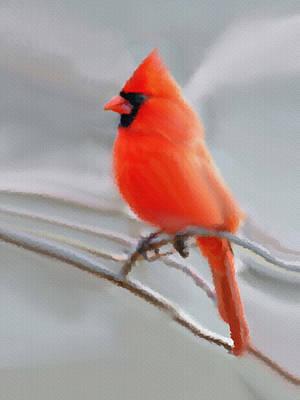 Painting - Winter Cardinal by Dennis Buckman