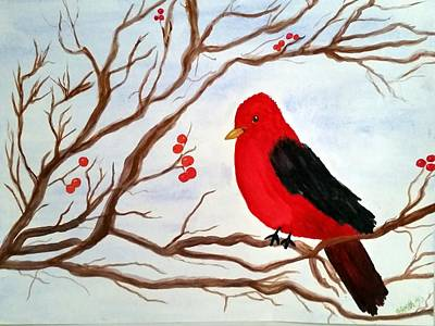 Painting - Winter Cardinal by Gerry Smith
