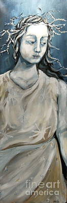 Goddess Mythology Painting - Winter by Carrie Joy Byrnes