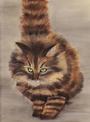 Painting - Winter Cat by Anastasiya Malakhova
