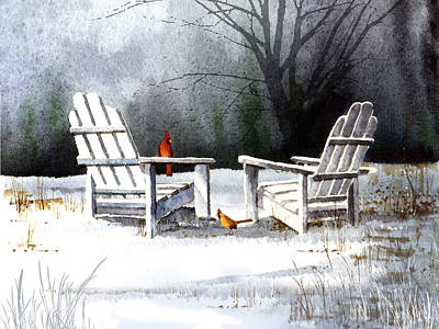 Painting - Winter Chairs by Paul Sachtleben