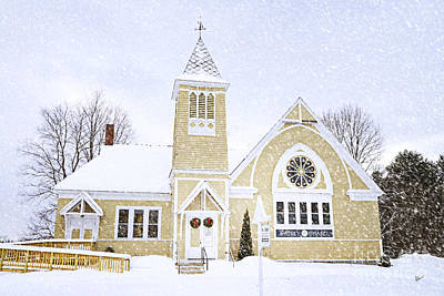 Photograph - Winter Chapel by Alana Ranney