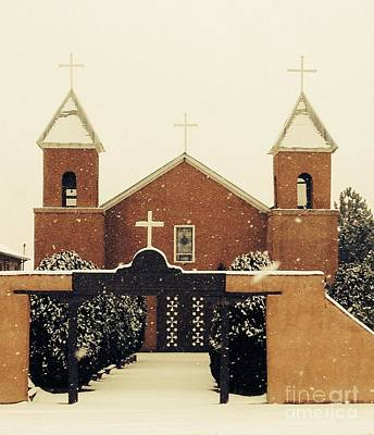 Photograph - Winter Church by LeLa Becker