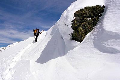 Winter Climb On Mount Lafayette Art Print