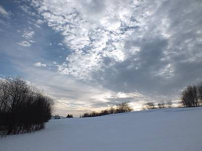 Photograph - Winter Clouds by Gene Cyr