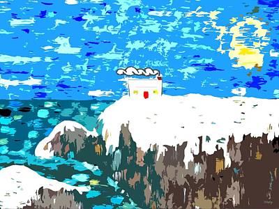 Winter Coast Art Print by Patrick J Murphy