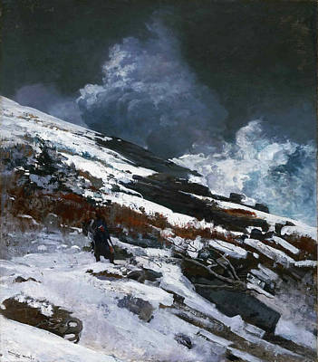 Winslow Homer Painting - Winter Coast by Winslow Homer