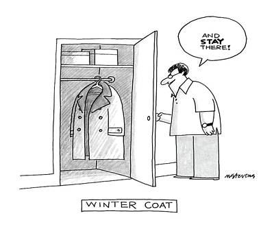 Winter Coat Art Print by Mick Stevens