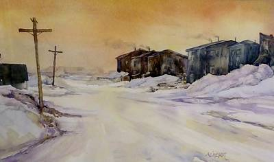 Painting - Winter Cold by Donna Acheson-Juillet