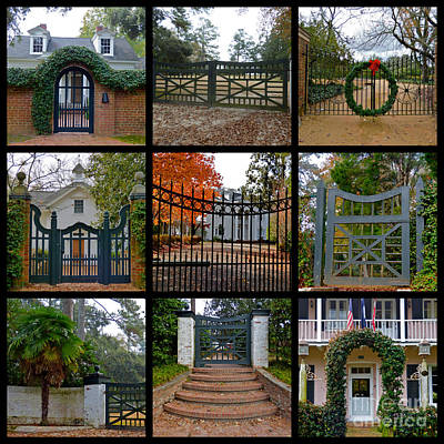 Photograph - Winter Colony Gates  by Jean Wright