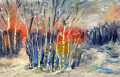 Painting - Winter Colors by Daliana Pacuraru