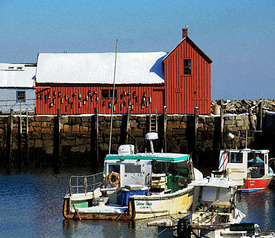 Photograph - Winter Comes To Rockport 2 by Caroline Stella