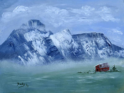 Mountain Valley Painting - Winter Comes To The Valley by Donna Blackhall
