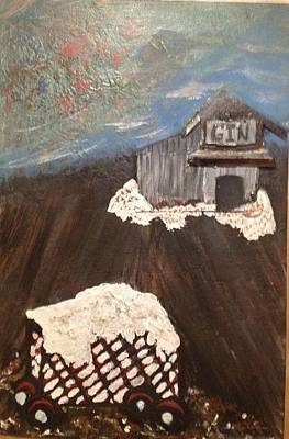 Cotton Gin Painting - Winter Cotton Gin by Andrea White