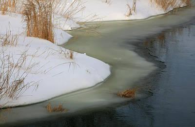 Photograph - Winter Creek 2 by Jim Vance