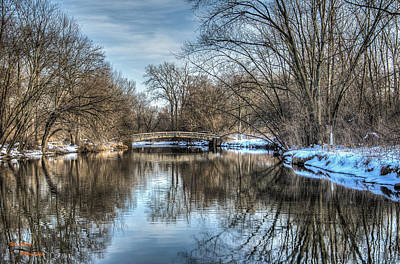 Winter Creek Art Print by Dan Crosby
