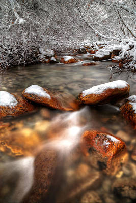 Photograph - Winter Creek by David Andersen