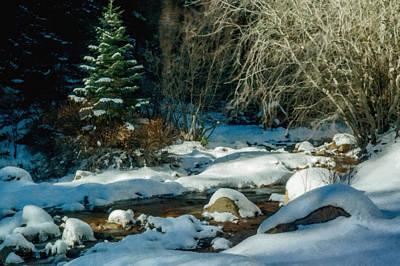 Winter Creek Art Print by Ernie Echols