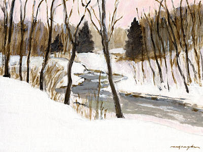 Painting - Winter Creek by J Reifsnyder