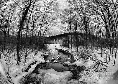 Snowy Brook Photograph - Winter Creek by Mark Miller