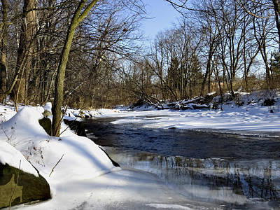 Photograph - Winter Creek by Ron Grafe