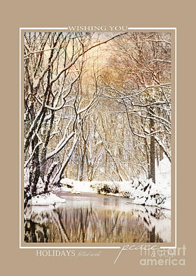 Photograph - Winter Creek Scenic Landscape Christmas Cards by Jai Johnson