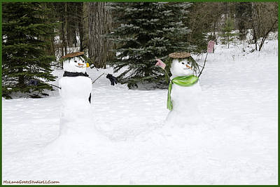 Father Photograph - Winter Dance Of The Snow People by LeeAnn McLaneGoetz McLaneGoetzStudioLLCcom