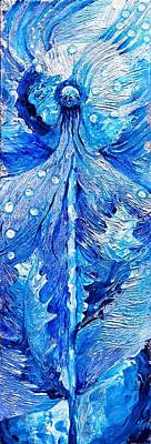 Painting - Winter Dandelion As Silent Ceremonial Rattle Of The Spirit by Corey Habbas