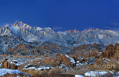 Photograph - Winter Dawn Alabama Hills Eastern Sierras California by Dave Welling
