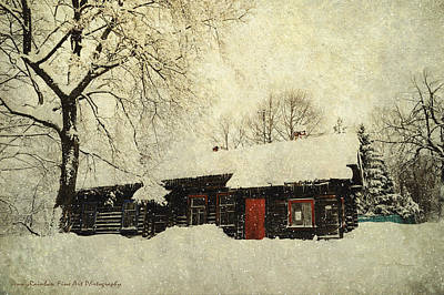 Cabin Window Photograph - Winter Day At Countryside by Jenny Rainbow