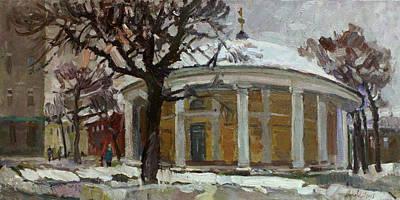 Painting - Winter Day At The Old Rotunda by Juliya Zhukova